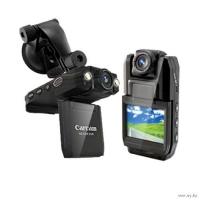 Видеорегистратор Prime-X DVR-5000 с ночной съемкой, с поворачивающимся монитором и поворачивающейся камерой