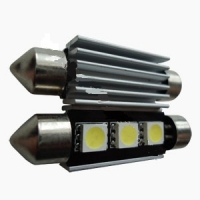 """Светодиодная лампа """"Prime-X"""" 3SMD-39мм CAN, с обманкой + радиатор, софитная."""