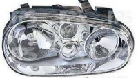 Фара правая Н7+Н1+Н3 хром (мех./эл.) VW Golf 1997-2003