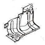 Защита подкрылка переднего правого (брызговик подкрылка)
