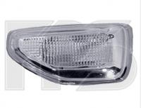Указатель поворота на крыле левый белый  Renault Logan / Sandero 2013-